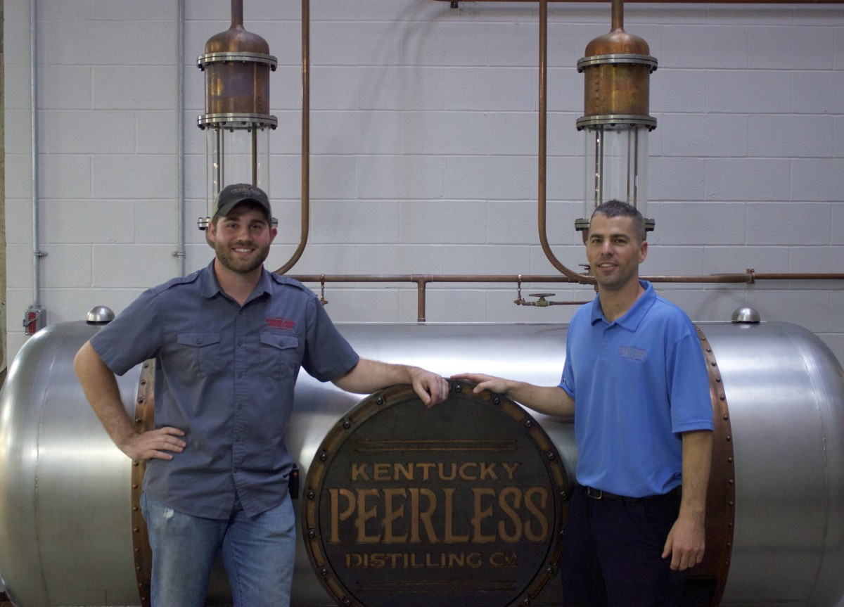 Caleb Kilburn, Distiller, and Carson Taylor, President and 5th Generation